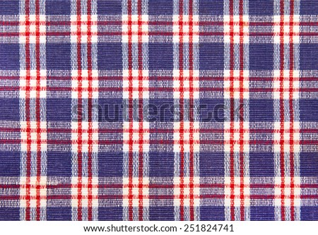 closeup of a colorful linen tablecloth  - stock photo