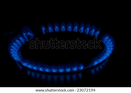 closeup of a cooker hobs - stock photo