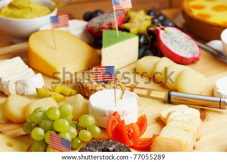 closeup of a fresh breakfast with lots of cheese