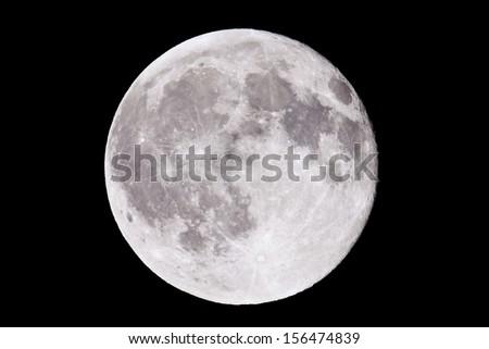 Closeup of a full moon - stock photo