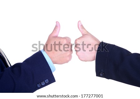 Closeup of a hand showing  - stock photo