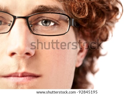 Closeup of a handsome young man - stock photo