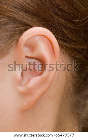 Closeup of a human ear - stock photo