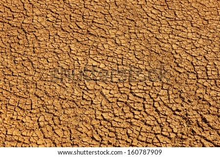 Closeup of a large dry mud field warm tone cracked land in Reykjanes Peninsula Iceland