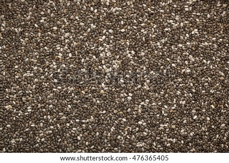 Closeup of a lot of chia seeds