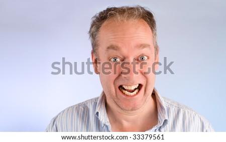 Closeup of a Man Smiling - stock photo