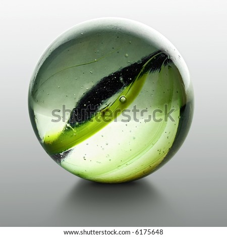 closeup of a marble with reflection - stock photo