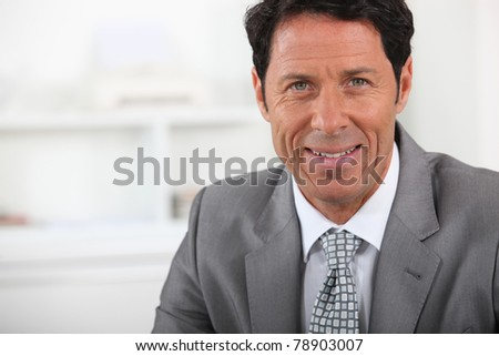 Closeup of a mature businessman - stock photo