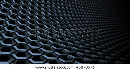closeup of a metal honeycomb structure ideal as background for technical or futuristic matters.