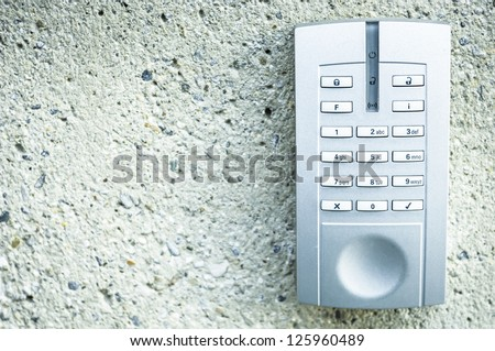 closeup of a modern keypad