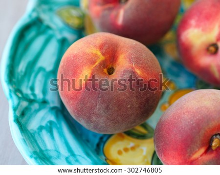 Closeup of a peach