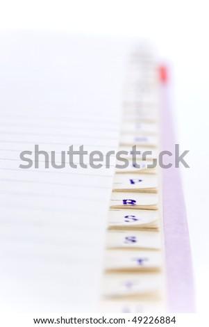 closeup of a phone book - stock photo