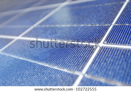 closeup of a photovoltaic panel for electric energy production - stock photo