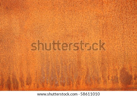 Closeup of a rusty plate. - stock photo