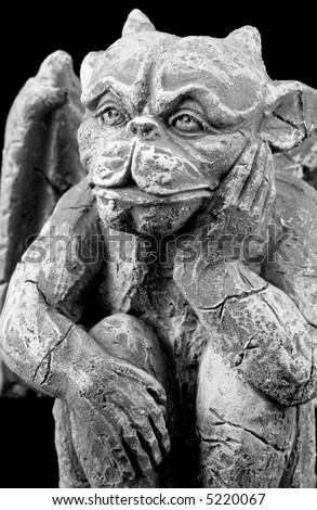 Gargoyle Statue Taken Emphasis On Face Stock Photo