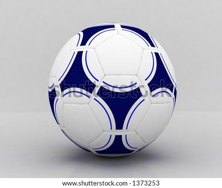Closeup of a soccer ball - stock photo