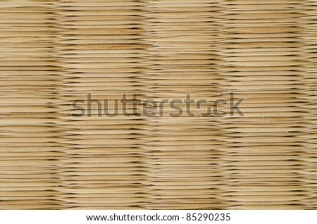 closeup of a tatami mat as used in japan, background - stock photo
