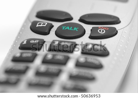 Closeup of a telephone - stock photo