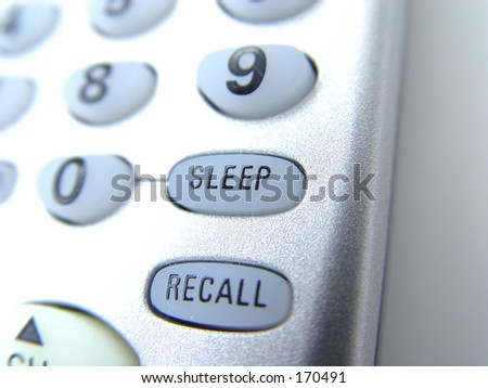 Closeup of a tv remote control