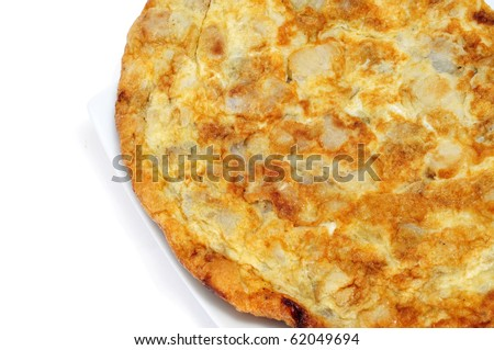 closeup of a typical spanish tortilla de patatas