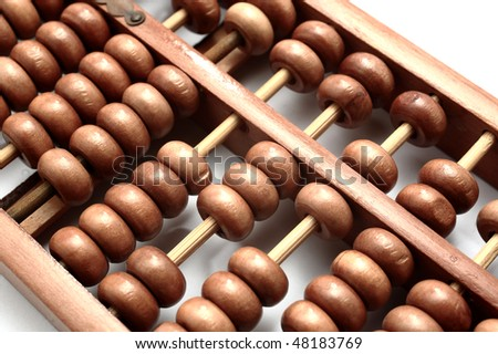 closeup of abacus