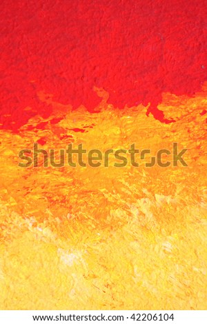 Closeup of abstract oil painting - stock photo