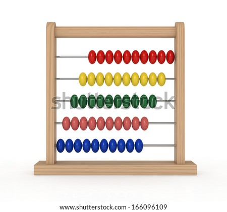 closeup of an abacus (3d render) - stock photo