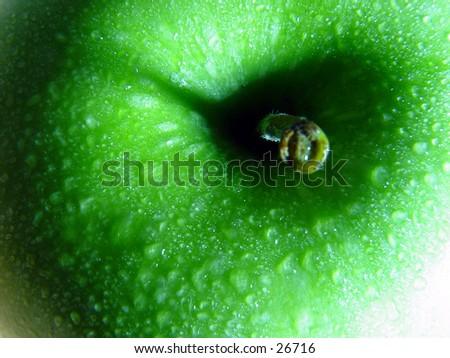 Closeup of an apple  - stock photo