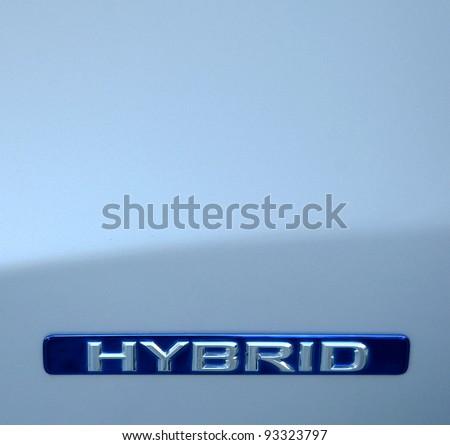 Closeup Of An Environmental Hybrid Car - stock photo