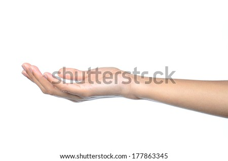Closeup of beautiful female hands