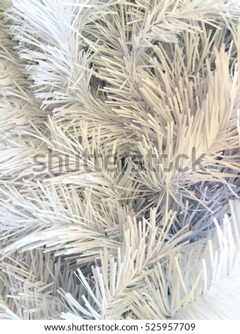 closeup of beautiful white christmas tinsel