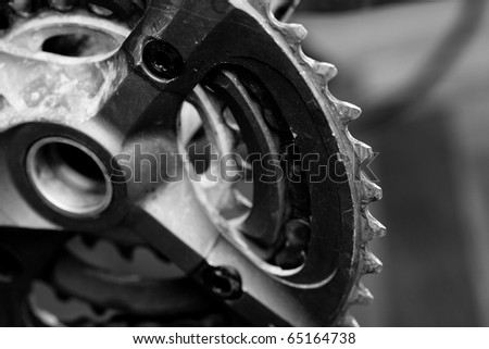 closeup of bicycle chain - stock photo