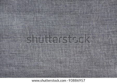 Closeup of black jeans texture full frame - stock photo