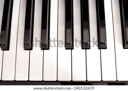 closeup of blacks and white keys of a piano classical