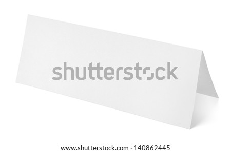 Closeup of blank paper template isolated on white background with clipping path - stock photo