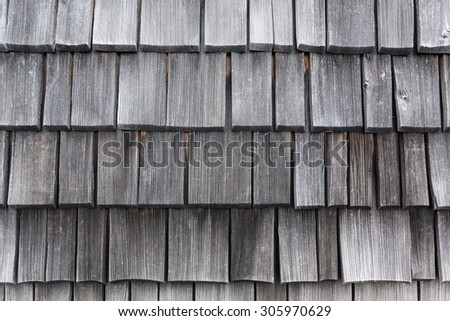 closeup of bleached wood shingles - stock photo