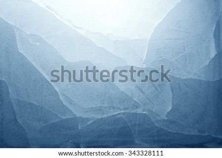 Closeup of blue ice background - stock photo
