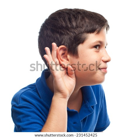 closeup of boy smiling - stock photo