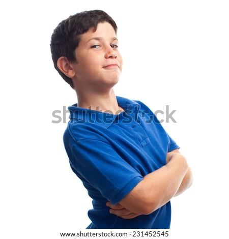closeup of boy smiling - stock photo