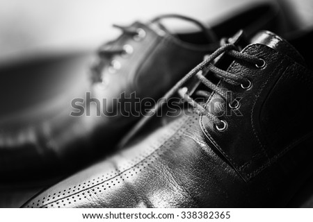 Closeup of Brand New Fashionable Male Classic  - stock photo