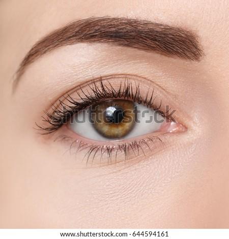 Eye makeup close up for brown eyes