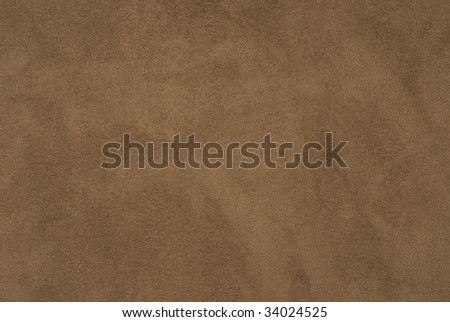 Closeup of brown suede fabric - stock photo