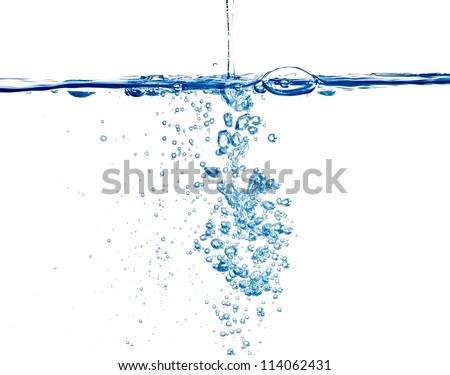 closeup of bubbles in  water - stock photo