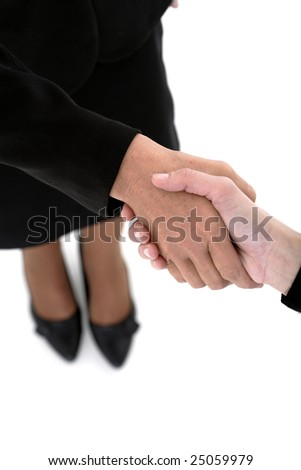 Closeup of business colleagues shaking hands