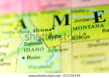 Closeup Las Vegas Nevada On Political Stock Photo - Montana political map