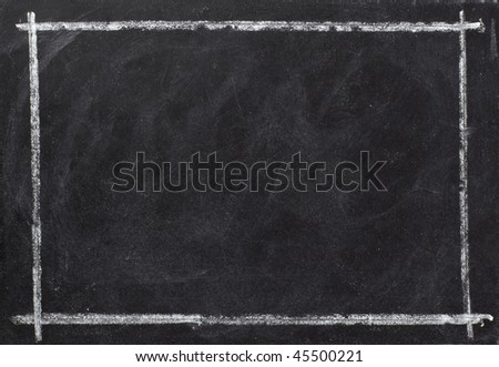 closeup of chalkboard - stock photo