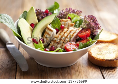 closeup of chicken salad - stock photo