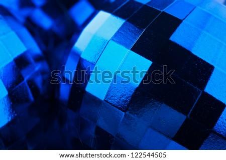 closeup of christmas balls background - stock photo