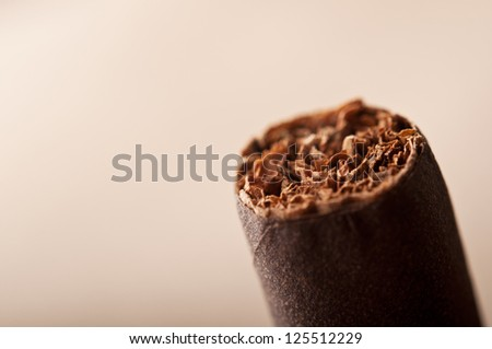 closeup of cigar on background - stock photo