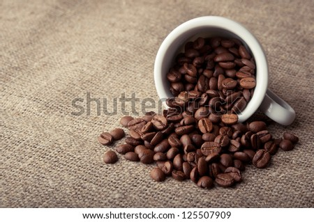 closeup of coffee roasted beans background